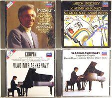 LOT (4) CDs LONDON DIGITAL W. GERMANY FULL SILVER Ashkenazy CHOPIN BARTOK MOZART