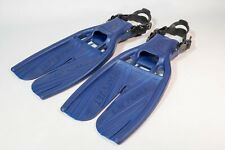 Scubapro Twin Jet Fins Small Open Heel Scuba Snorkeling Adjustable Blue Usa swim