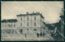 Pavia Santa Maria della Versa PIEGHE ABRASA cartolina QT0245