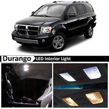 2004-2009 Dodge Durango White Interior + LIcense Plate LED Lights Package Kit