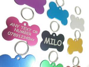 Laser Engraved Dog Tag, Pet ID Tags, Personalised Engraving, Dog Collar, Bone