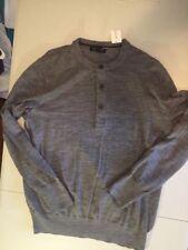 New Men's Classic Grey 100% Wool XL By Banana Republic Work Weekend