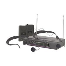 QTX Sound VHF Dual Neckband Wireless Radio Microphone System
