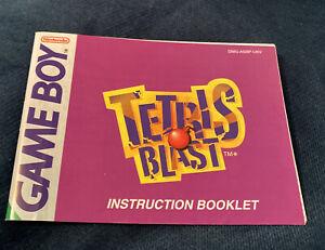 Tetris Blast Nintendo Gameboy Manual Instruction Booklet