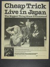 1979 Cheap Trick at Budokan live album promo vintage print Ad