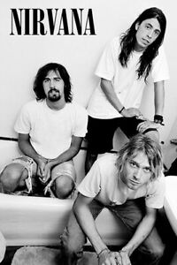 NIRVANA - BAND IN TUB POSTER - 24x36 - MUSIC 4332