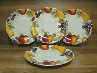 "SET OF 4 - BETTER HOMES  / TRENDS - BELLA FRUIT - 8 1/2"" SALAD DESSERT PLATES"