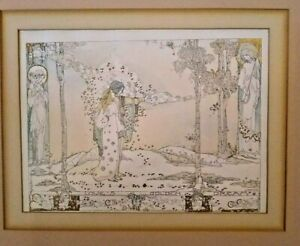Jessie M King Print Loves Golden Dreams 1913 Sleep Baby Sleep Fairies