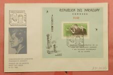 1965 PARAGUAY FDC #894a S/S JFK SPACE FRIENDSHIP 7 ROCKET NICE CACHET