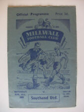 Teams S-Z Division 3 Southend United Football Programmes