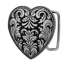BLACK Decorative Heart Girly Belt Buckle Feminine