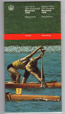 Orig.PRG / Off.Regeln / Guide   Olympische Spiele MONTREAL 1976 - KANU  !!  TOP