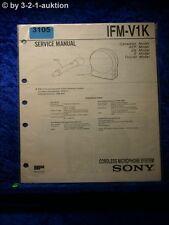 Sony Service Manual IFM V1K Cordless Microphone System (#3105)