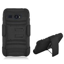 Kyocera Hydro C5170 All Black Advanced ARMOR Kickstand  Cover Case w/H