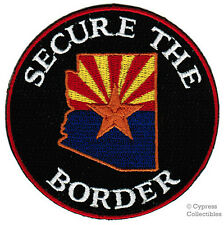 ARIZONA IMMIGRATION PATCH SECURE THE BORDER STATE FLAG