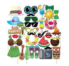 32pcs Hawaii Photo Booth Props masks for Summer Holidays Beach Party Favors US