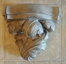 Ornate Art Deco Roman Leaf  Decorative Wall Decor Shelf