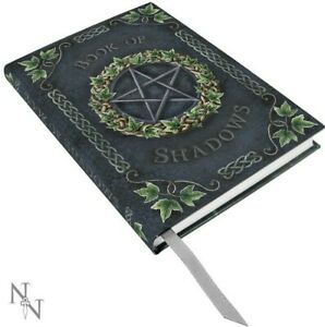 Nemesis Now Embossed IVY BOOK OF SHADOWS Pentagram Spells Book Journal A5 17cm