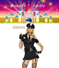 Women's Ladies Police Fancy Dress Halloween Costume Sexy Cop Outfit COS150