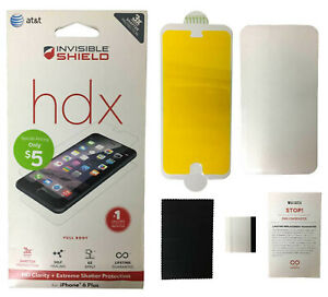 """ZAGG HDX Clarity Extreme Screen Protector iPhone 6 PLUS & 6S plus Full Body 5.5"""""""