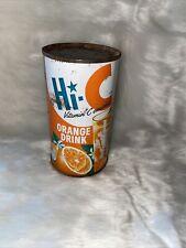 Hi-C Orange Drink 12oz Juice Flat Top Soda Can