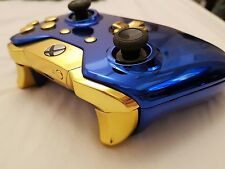 Official Wireless Xbox One/S Controller V2 - 3.5mm -Modded / Custom -Blue & Gold