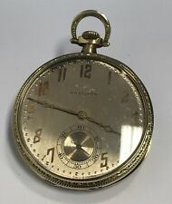 1926 Hamilton 14K Solid Yellow Gold Pocket Watch Model 902 Size 12