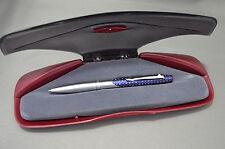 SHEAFFER Intrigue Kugelschreiber, silber/dunkelblau m. weißen Punkten   (SH101)