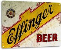 Effinger Beer Retro Rustic logo Bar Man Cave Garage Wall Decor Metal Tin Sign
