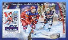 Togo 2017 Ice Hockey Championship Winners Canada Finland S/S TG16610b