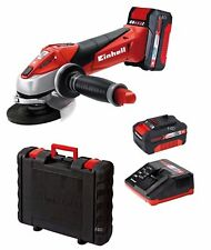 "EINHELL 18 V LITIO LI-ION 4.5"" 115 mm Cordless Angle Grinder + Batteria & Caricabatteria"