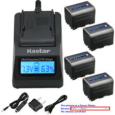 Kastar Battery LCD Fast Charger for Sony NP-QM71D & Cyber-shot DSC-F828 DSC-R1