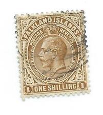 Falkland Islands 1912 1 shilling pale bistre-brown fine used