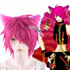 Heart no Kuni no Alice Boris Airay Short Magenta Anime Cosplay Hair Wig NEW