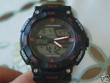 New Q&Q by Citizen Dual Time Men's Sports Watch w/Red Markers