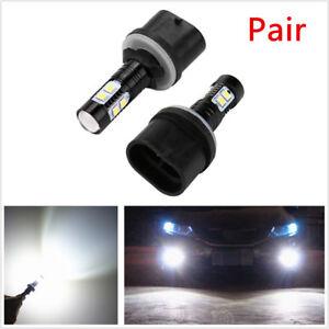 2x 50W High Power 880 899 LED Fog Light Bulbs for Car DRL Fog Lights Xenon White