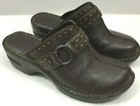 BOC Born Concept Brown Mules Slip On Shoes Clogs Leather Upper Womens Size 8