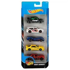 Hot Wheels NIGHT BURNERZ 1:64 Scale Diecast Vehicle 5-Pack Cars (DJD30) Mattel