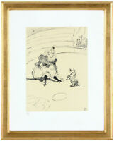 """Fine Toulouse Lautrec """"Clownesse' Hand Numbered 15/20 Lithograph Unframed COA"""