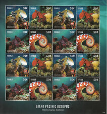 Tuvalu 2014 MNH Giant Pacific Octopus 16v M/S Marine Cephalopoda