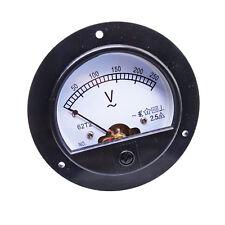 Us Stock Ac 0 250v Round Analog Volt Pointer Needle Panel Meter Voltmeter