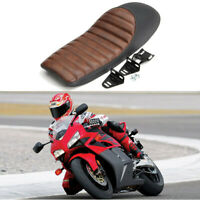 Universal Brown Motorcycle Seat Cover Hump For Honda CB 400 550 750 Cafe Racer