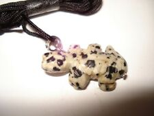 Natura Dalmation Jasper Gemstone Lizard Fetish Necklace