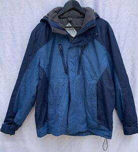 EUC ZEROXPOSUR Mens Winter Full Zip Jacket Coat Hood Size Large