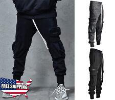 Urban Trousers Men Casual Streetwear Joggers Cargo Pants Sweatpants Combat Sport