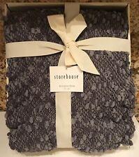 Storehouse Knit Throw: Gorgeous grey shades, w/fringe, boxed, COZY & ELEGANT!