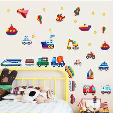 Cartoon Vehicle Transport Nursery Decals Wall Sticker Children Living Room Decor