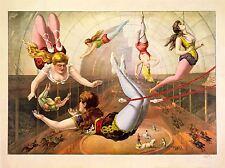 Art Imprimé Poster Peinture culture CIRCUS Trapèze Acrobat loi USA nofl0925