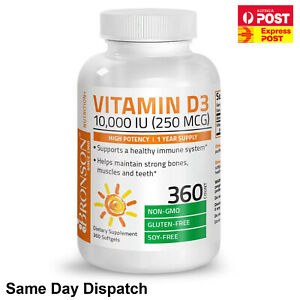 Nu Nutrition Vitamin D3 10,000 IU 365 Softgels ULTRA DOUBLE STRENGTH VALUE PACK!