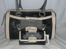 GUESS LULIN BOX BAG PURSE & WALLET SET MULTI BLACK HANDBAG CROSSBODY CLUTCH
